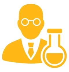 Chemist icon vector