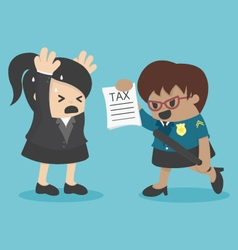 business woman evasion tax vector image