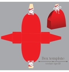 Box template red dress vector