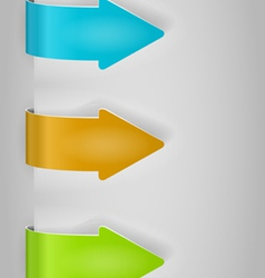 color arrows sticker set vector image