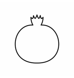 Ripe pomegranate icon outline style vector
