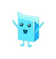 Small milk pack carton character vector