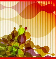 Abstract background warm colors liquid shapes vector