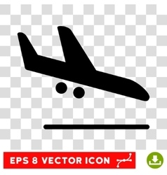 Aiplane Landing Eps Icon vector image vector image
