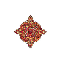 Arabic flower ornament floral background abstact vector