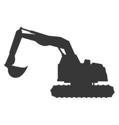 Backhoe machine icon vector