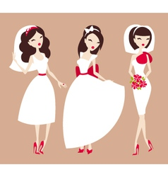beautiful brides vector image vector image
