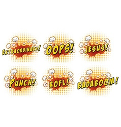 Different words on cloud explosion vector image vector image