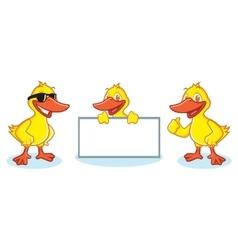 Duck mascot happy vector