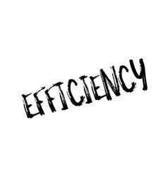 Efficiency rubber stamp vector