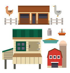farm house food outdoor barn building clean meadow vector image