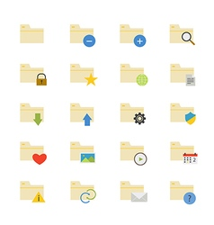 Folder flat icons color vector