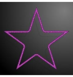 Frame pink sequins star glitter sparkle vector