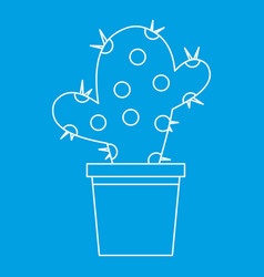 House plant icon outline style vector