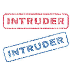 intruder textile stamps vector image vector image
