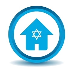 Jewish house icon blue 3d vector