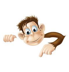 pointing monkey vector image