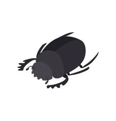 Scarab icon isometric 3d style vector image