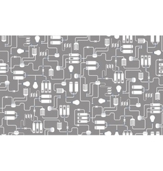 Seamless background of electrical scheme vector image vector image