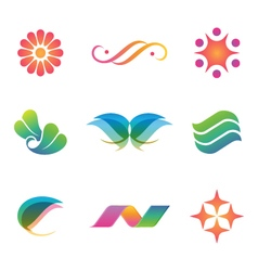 Set of spa and beauty logos icons and elements vector image vector image