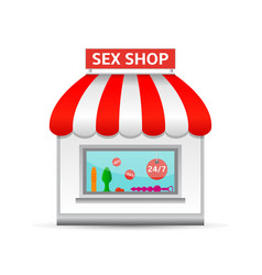 Sex shop icon vector