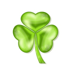 Shamrock isolated for Saint Patrick day vector image