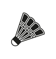 Shuttlecock icon on white background vector