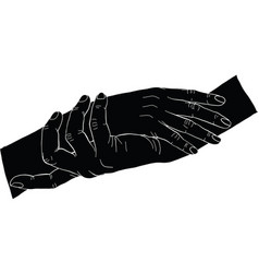 Silhouatte hand vector