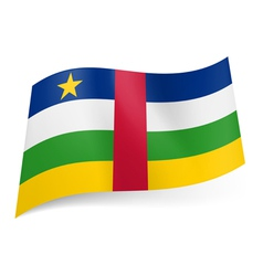 State flag of central african republic vector