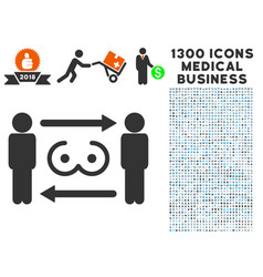 Swingers exchange icon with 1300 medical business vector
