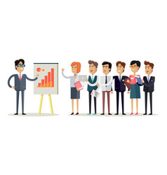 team work concept in flat design vector image vector image