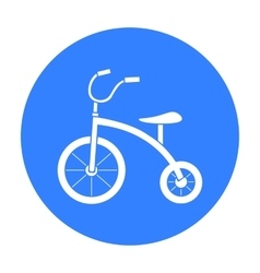 Tricycle icon in black style isolated on white vector image