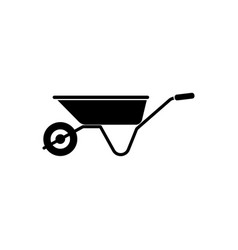 Wheelbarrow icon gardening tool vector
