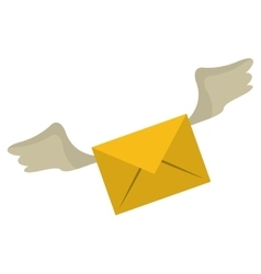 winged email envelope mail express vector image vector image