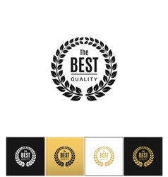 Floral wreath logo ot best design label vector