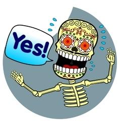 skeletons vector image
