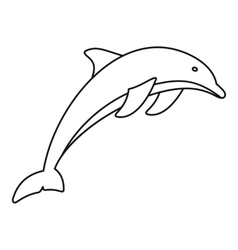 Dolphin icon outline style vector