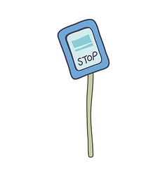 The stop sign vector