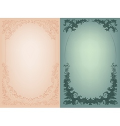 Vintage background with rich baroque decoration vector