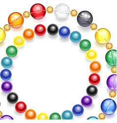Necklace of multicolored beads vector