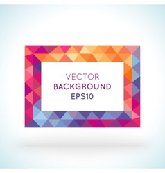 Bright picture rectangle frame in modern polygonal vector
