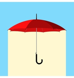 Umbrella under rain vector
