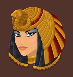 Icon head cleopatra vector