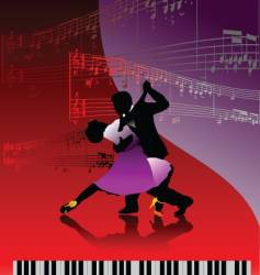 piano and dance vector image