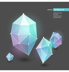 Abstract crystal blue vector