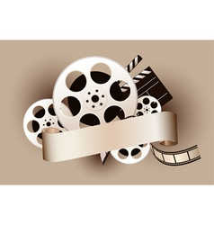 film reel with baner vector image