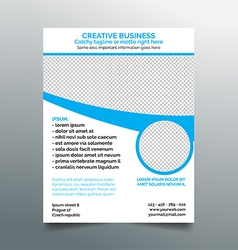 Creative business flyer design - light blue vector
