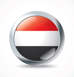 Yemen flag button vector
