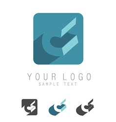 C letter icon vector