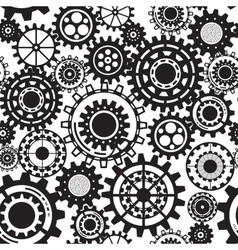 Black gears steampunk seamless pattern vector